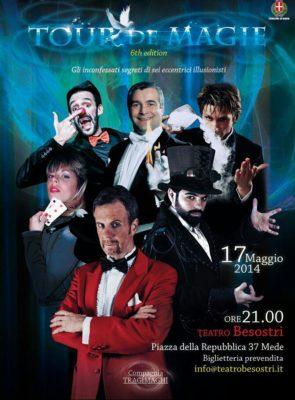 il Mago Leonardo Carrassi ha portato in teatro i Tragimaghi, per eventi e feste di beneficenza, col cofondatore Lorenzo Canovi